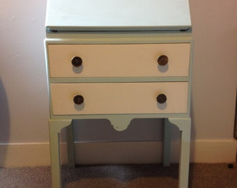 Bureau in duck egg and white