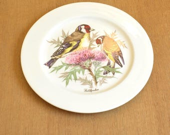 collectable plate kingfisher wildlife vintage bone china