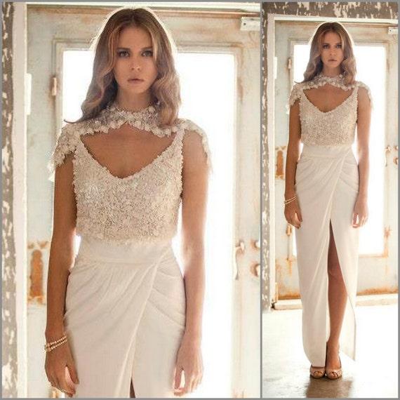 2 Piece Wedding Dress sequin wedding dress Two Piece Wedding