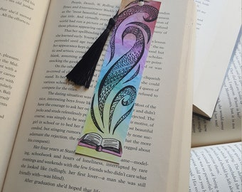Beautiful Handmade Open Book Bookmark