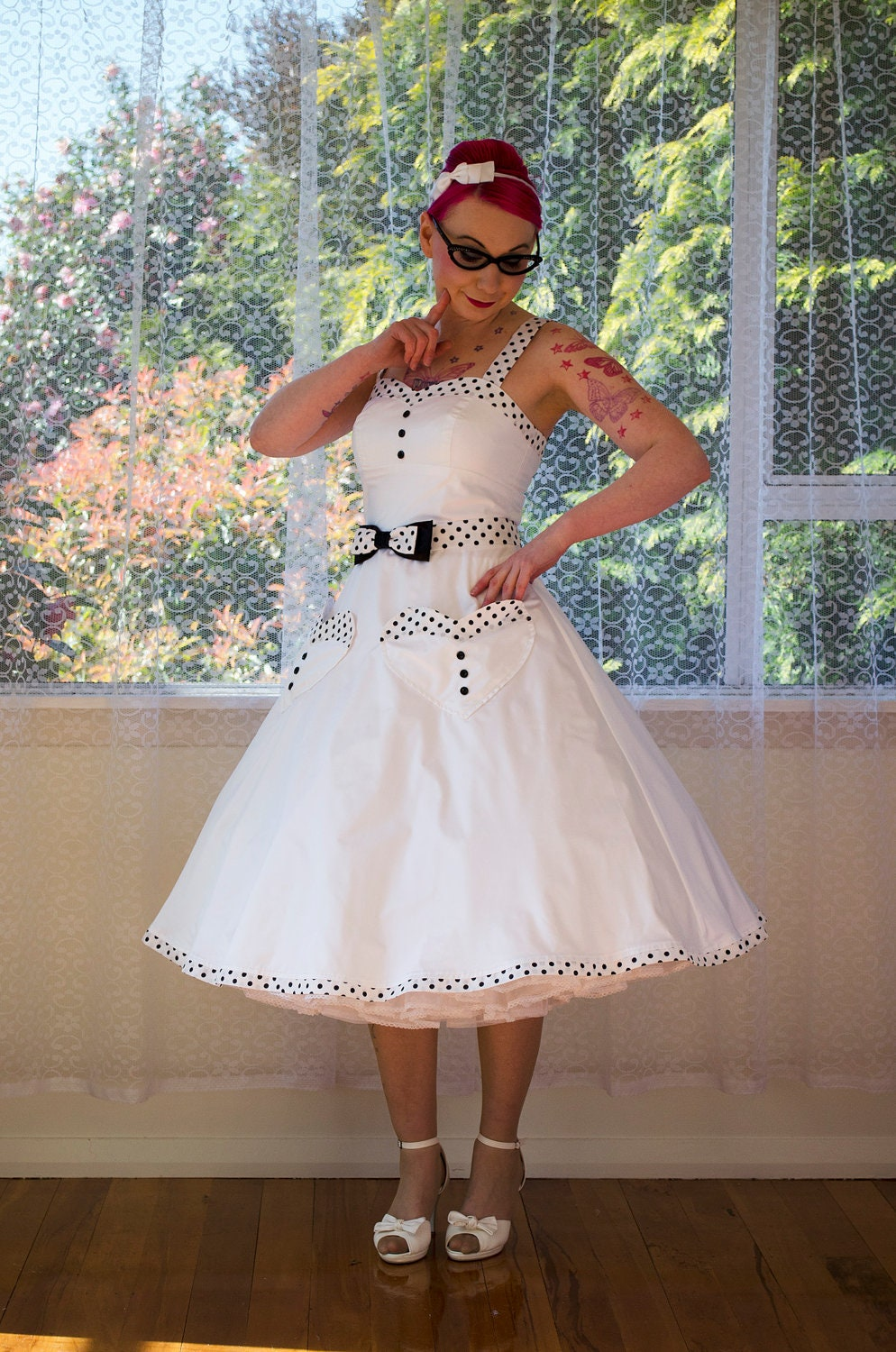 1950s Rockabilly Elise Wedding Dress With