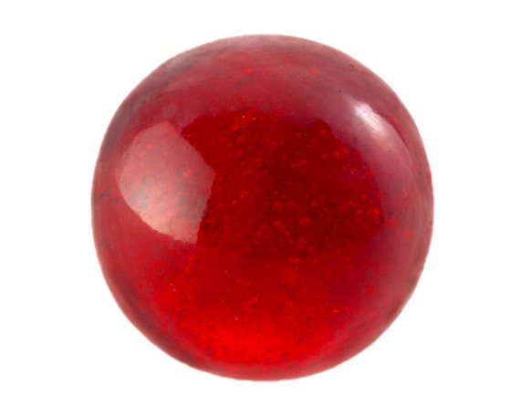 24 Red Glass Marbles 1950 S Czech 13mm Large Round Solid