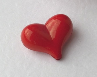 Bulk, 22mm, 100 CT, Red Heart Chunky Beads, Valentine's Day, Acrylic, Bubblegum Beads, perfect for Easter, Bulk B18