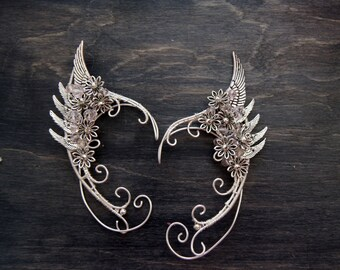 Angel wings. Elven ears (a pair). Earcuffs, Elf ears, cosplay fantasy decoration for ears.