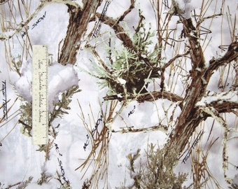 True Timber Fabric - MC2 Snow Covered Tree Branch White - Springs CP43848 YARD