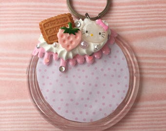 Kawaii Decoden Photo Keychain