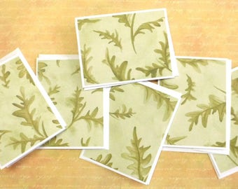 Acorn Leaves Note Cards, Set of 6, All Occasion Blank Cards, Thank You, Nature, Handmade Greeting Card by TwoSistersGreetings