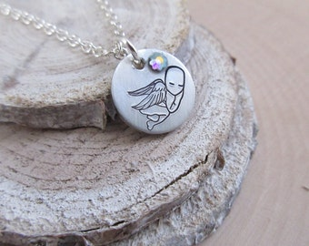 Miscarriage Necklace, Memorial Jewelry, Infant Loss Necklace, Miscarriage, Angel Baby, Stillbirth, In loving memory, Baby Loss, Grief