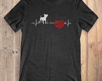 Jack Russell Dog T-Shirt Gift: Jack Russell Heartbeat