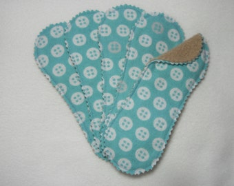 Aqua Buttons Reusable Coth Pantiliner - Set of 5