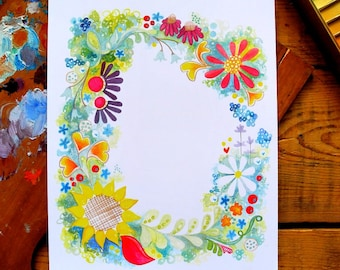 wreath - rectangle - 8 x 10 inches