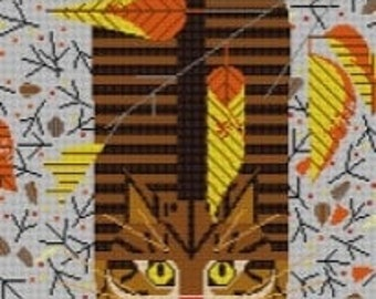 Purrfectly Perched Needlepoint Pattern