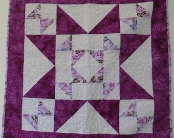 Purple Star Lap Quilt