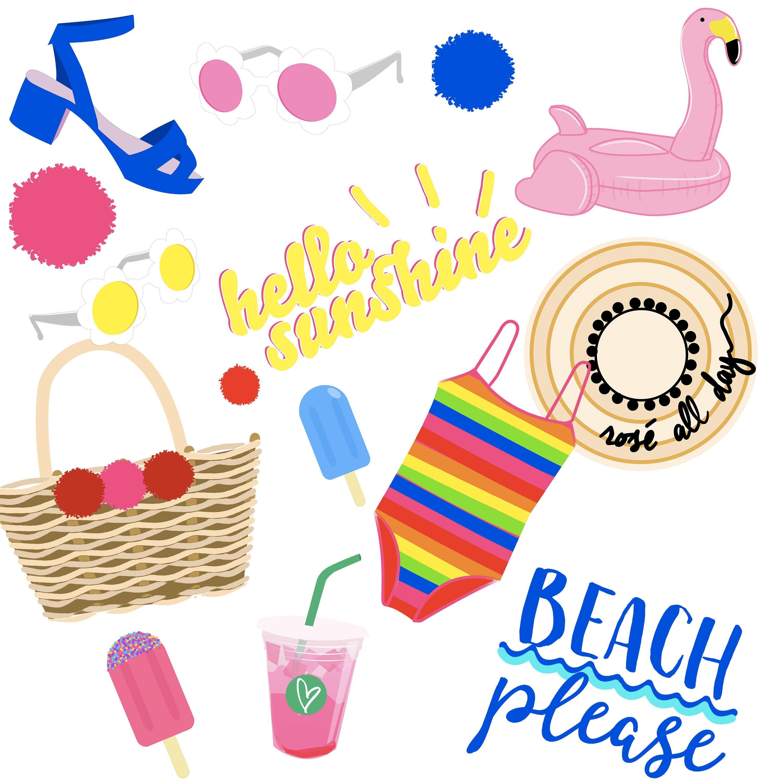 summer clipart summer clip art beach clipart beach clip art rh etsystudio com clip art vacation bible school clip art vacation cartoons