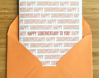 Sobriety card, Sobriety Anniversary card. Sober card, AA anniversary card, addiction recovery, sober anniversary, sobriety gift, na recovery