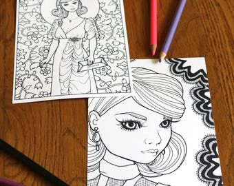 Postcard Set from Dolly Coloring Studio (2)