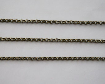 10 Meters, 1.6 mm Rolo Chain, Antique Gold Finished Brass Chain, 1.6 mm BL, Quality Brass Chain, Basic Fashion Jewelry Chain