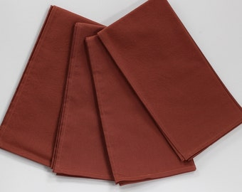 Copper napkins, cloth dinner napkins, Thanksgiving napkins, cotton napkins, copper table linens, rustic decor, earthy decor, 18x18 set of 4