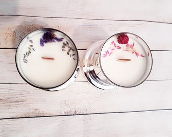 Hand made Soy candle wood wick Triple scented