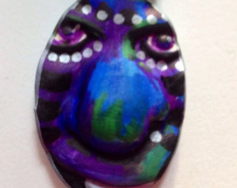 moon clay face jewelry craft supplies  mosaic tile handmade cabochon polymer findings woman