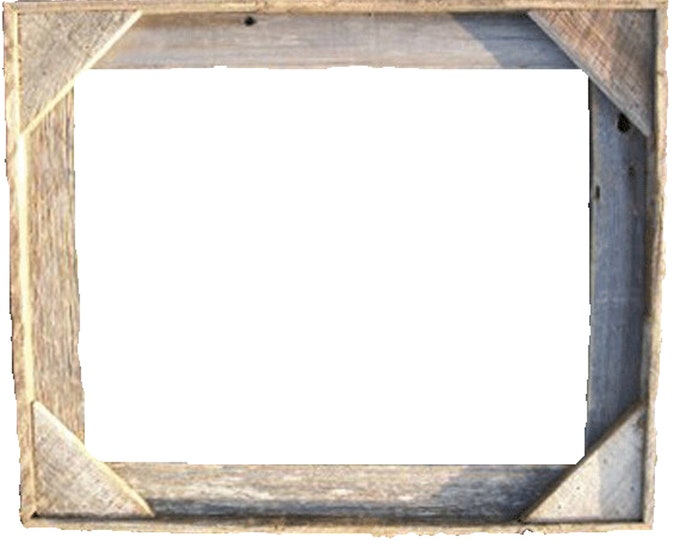 Empty 8X10 Rustic, Weathered Wood Picture Frame does not include glass or hanging hardware