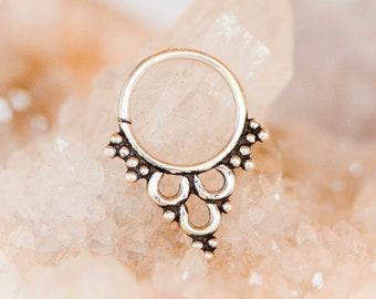 Septum, Sterling Silver Septum Ring, Septum Jewelry, Nose Ring, Nose Hoop, Nose stud, Silver Septum, Tribal Septum Ring, Tribal Fusion, Boho