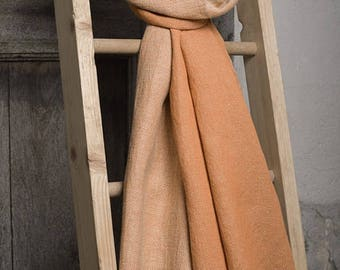 Light Brown Scarf | Linen Cotton blend Scarf | Scarves For Women | Mens Scarf | Scarves and Shawls | Linen Wrap | Linen Scarf | Long Scarf