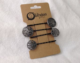Classic Button Bobby Pins