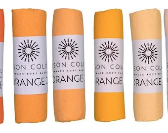 Unison Artist Quality Soft Pastels - Orange 1 - 6