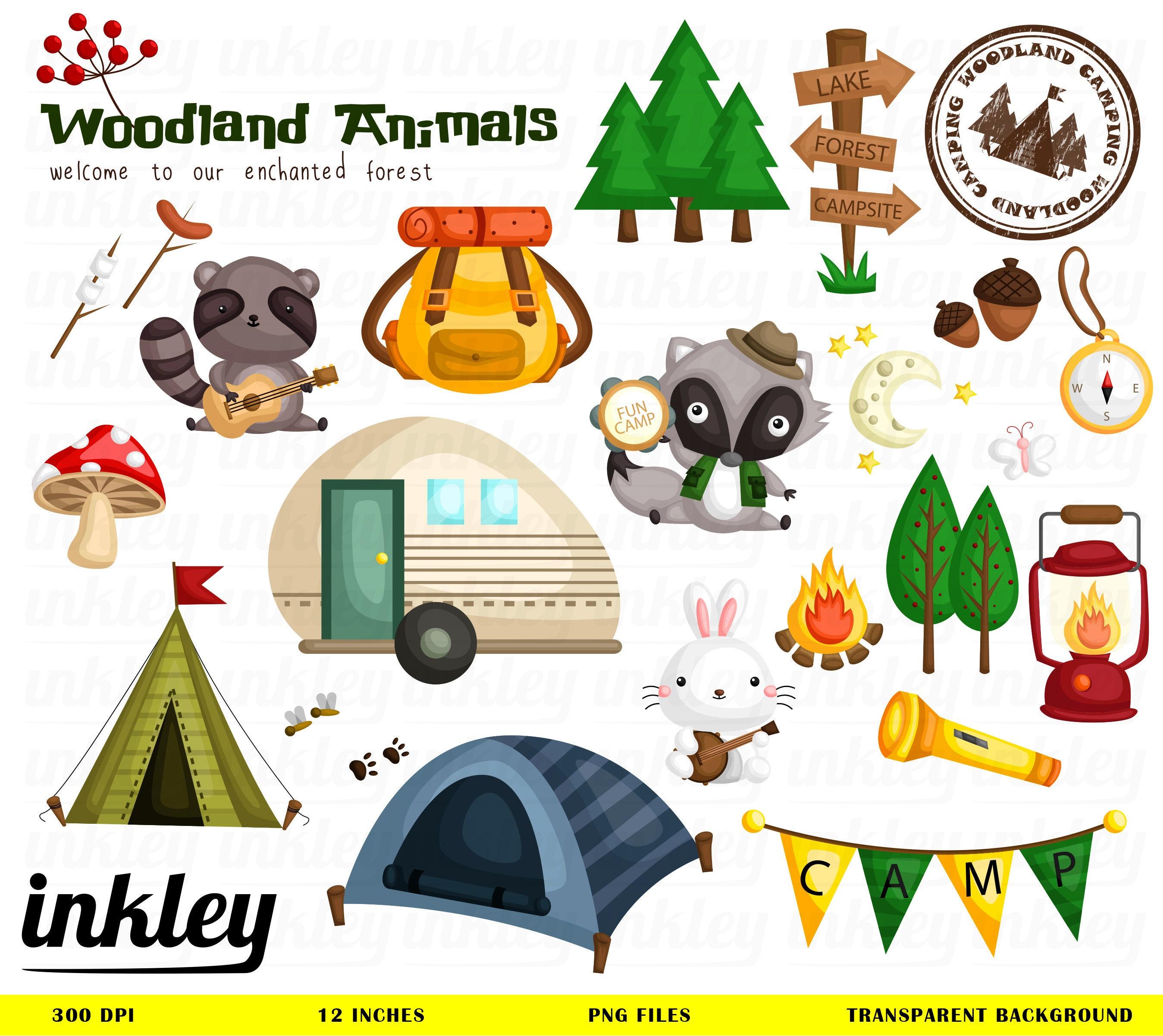 Animal Camping Clipart Animal Camping Clip Art Animal