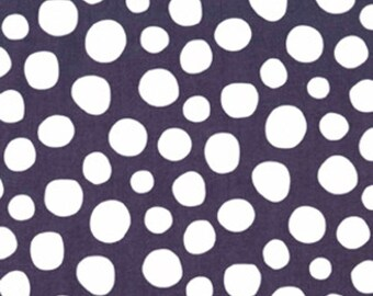 Gray polka dot cotton fabric by the yard, kid's room, quilting cotton by Paula Prass for Michael Miller. Need more fabric yardage? Just ask.
