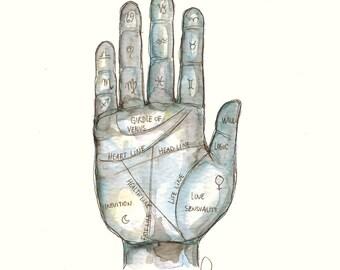In your hand (original watercolor)