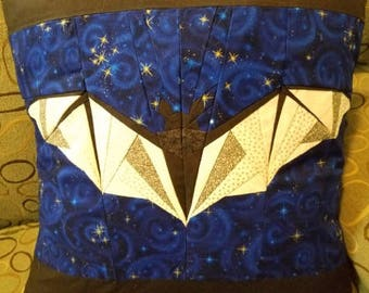 Batty Starry Night Quilted Bat Pillowcase