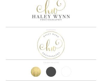 Gold Logo Calligraphy Logo Photography Logo Lash Logo Branding Package Watermark Realtor Logo Real Estate Logo Microblading Logo Doula Logo
