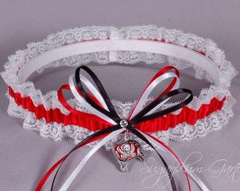 Tampa Bay Buccaneers Lace Wedding Garter