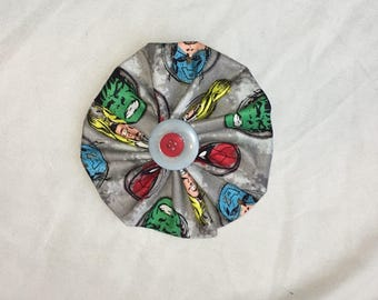 Spider-Man and Hulk Fabric Pinwheel Bow