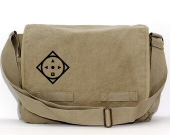 Messenger Bag | COMPASS | Gift for Men | Camera Bag | Crossbody Bag | Travel | Large | Commuter | Mens Messenger | Gift for Boyfriend