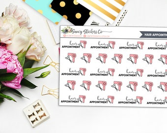 Hair Appointment Planner Stickers | for use with Erin Condren Lifeplanner™, Filofax, Personal, A5, Happy Planner