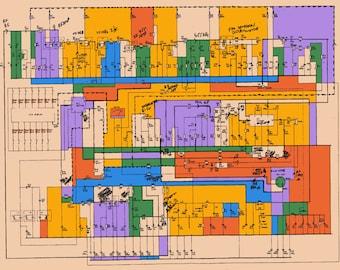 Schematic 2 - Digital art from vintage schematic