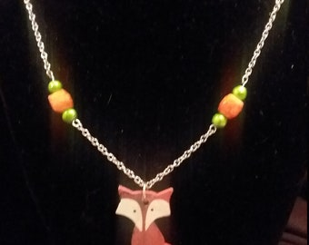 Fall Fox necklace