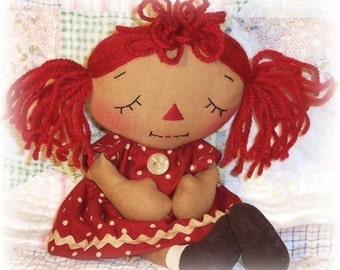 Rag Doll Pattern, PDF Sewing Pattern, cloth doll pattern, praying doll, raggedy ann annie, primitive doll, Christian inspirational, prayer