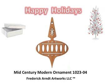 1023-4 Mid Century Modern Christmas Ornament