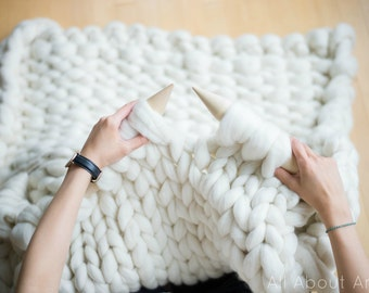 Extreme Knitted Blanket Pattern