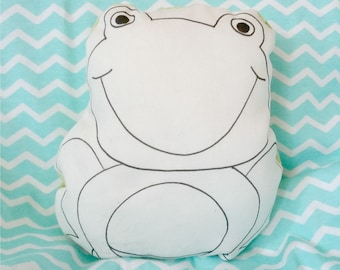 MiniCoccola a forma di Rana-Stuffed frog animal-cotton frog toy-Baby gift box-gift for baby girl or baby boy-frog plush