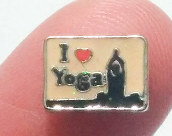 Yoga Floating Charm for Glass Memory Locket FC20 - 1 Charm Web