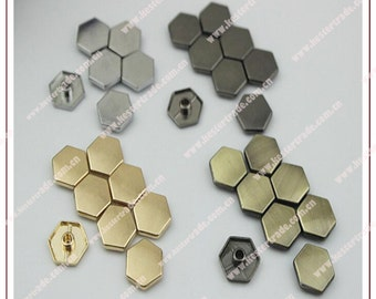 50pcs Metal gunmetal/ light golden/silver /bronze clothing/bags/shoes accessories/ ornaments/decorations nails /rivet /studs
