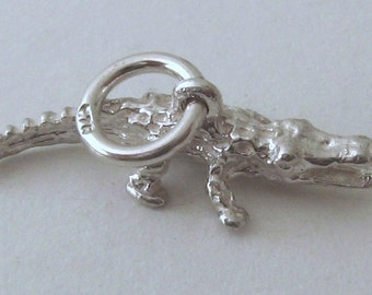 Genuine SOLID 925 STERLING SILVER 3D Crocodile Australian Animal charm/pendant