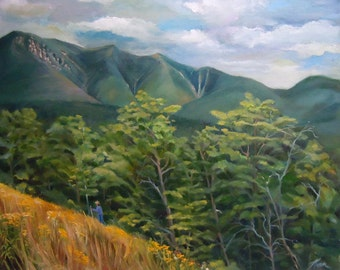 Mount Osceola From Kancamagus Highway New Hampshire Framed Oil Painting