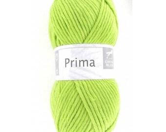 big yarn PRIMA No. 278 horse white lime green color