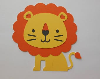 Lion Cutout - Safari or Zoo Animal - Chid Birthday Party Decoration - Baby Shower Decorations - Gender Reveal Party Decor - Set of 1